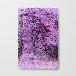 Fantasy Tree Landscape: Orchid Pink Purple Metal Print