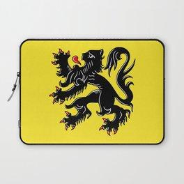 Flag of Flanders - Belgium,Belgian,vlaanderen,Vlaam,Oostende,Antwerpen,Gent,Beveren,Brussels,flamish Laptop Sleeve