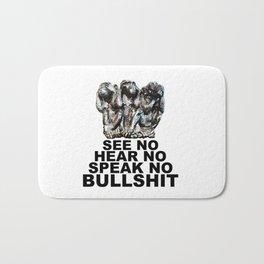 NO BULLSHIT 2 Bath Mat