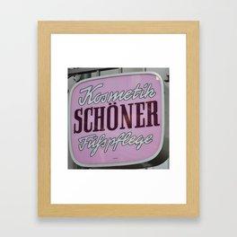 Schoener Framed Art Print