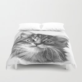 Maine Coon kitten G114 Duvet Cover