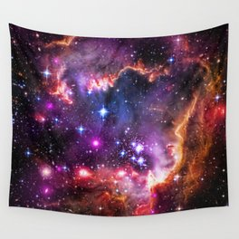 Small Magellanic Cloud's Starry Wingtip Wall Tapestry