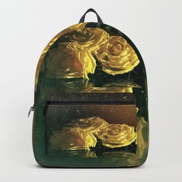 Yellow Vintage Roses Backpack