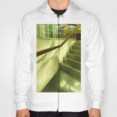 Inside: steel, glass and stairs. Hoody