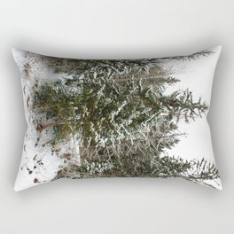 Snowy trees in the French Alps Rectangular Pillow
