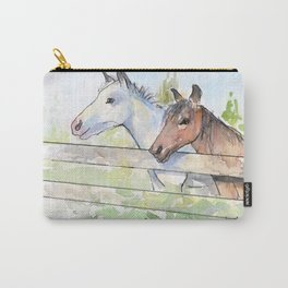 Horses Watercolor Sketch Barn Animals Horse Carry-All Pouch
