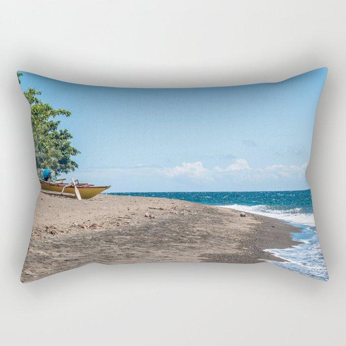 Pointed East (Filipino Traditional Kayak) Rectangular Pillow