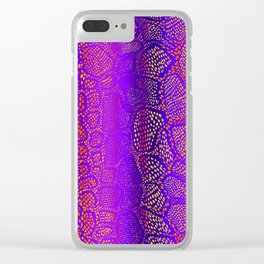Colorful Snake Skin Clear iPhone Case