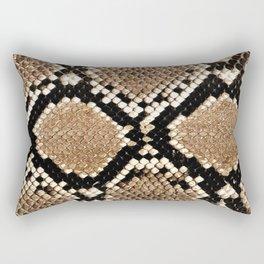 Pastel brown black white snakeskin animal pattern Rectangular Pillow