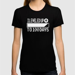 One Hundred Days of School Gamer Leveled Up to 100 Days T-shirt