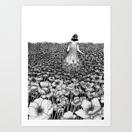 The Field of Poppies Art Print