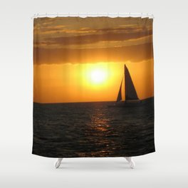 A Night's Sail Shower Curtain