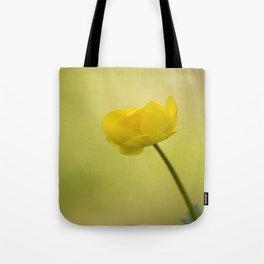 Yellow Globeflower On A Green Bokeh Background #decor #society6 #homedecor Tote Bag