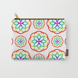 Retro Colorful Circles Rainbow Pattern Carry-All Pouch
