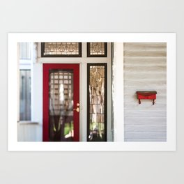 Red Porch Accents Art Print