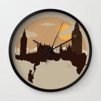 sherlock Wall Clocks featuring Sherlock by Typo Negative