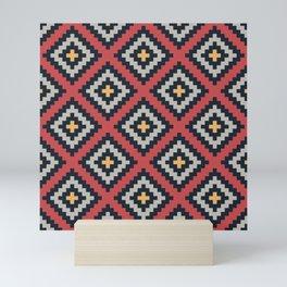 Aztec pattern design Mini Art Print