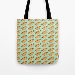 Hot Dog Pattern Tote Bag