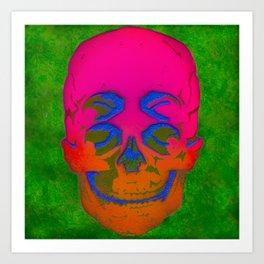 the 4i skull stencil art - 3D Art Print