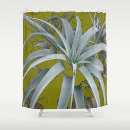 GRACEFUL GREY SUCCULENT GARDEN PLANT MODERN ART Shower Curtain