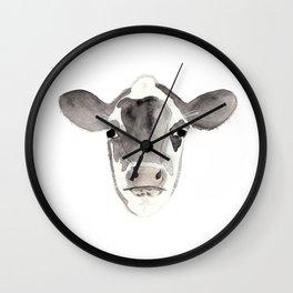 Watercolor Cow Wall Clock