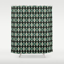 Shields in Forest, Bronze, Rose, & Mint Shower Curtain