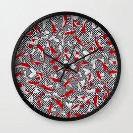 Koi Fish Pond Pattern Wall Clock