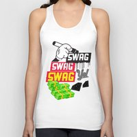 swag Tank Tops featuring SWAG by Mr. Magenta