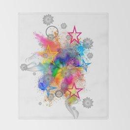 Color blobs by Nico Bielow Throw Blanket