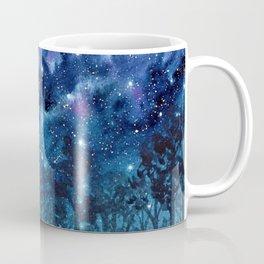 """Purple Milky Way"" galaxy watercolor landscape painting Coffee Mug"