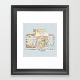TRAVEL NIK0N Framed Art Print
