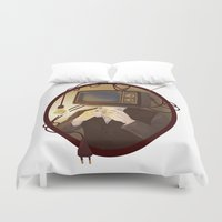tv Duvet Covers featuring TELEVISION by FISHNONES