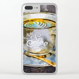 Time For Coffee Clear iPhone Case