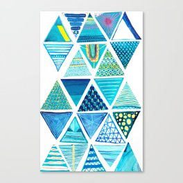 Triangle Study in Blue Canvas Print