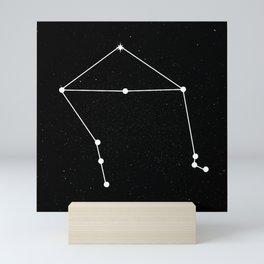 LIBRA (BLACK & WHITE) Mini Art Print