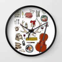 hannibal Wall Clocks featuring Hannibal by Shanti Draws
