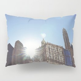 The Sun Piercing the Chicago City Skyline Pillow Sham