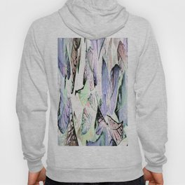 452 - Abstract leaves design Hoody