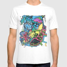 Abstract #5 White Mens Fitted Tee MEDIUM