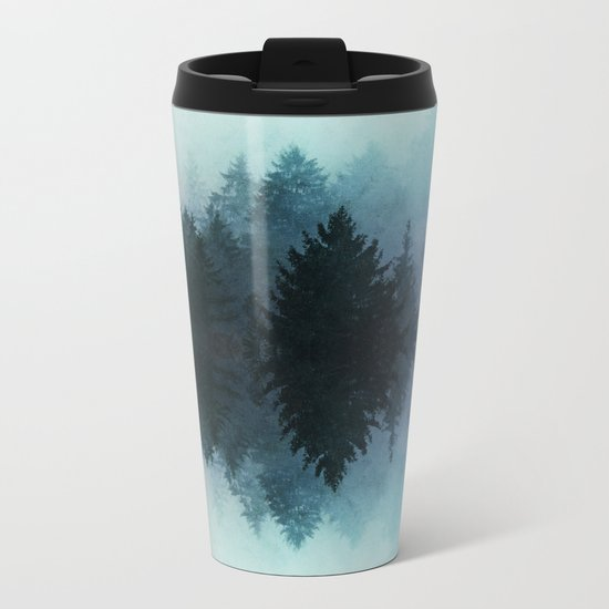 Forest Reflections II Metal Travel Mug