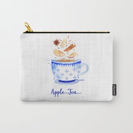 Apple Tea in Watercolor Carry-All Pouch