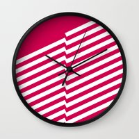 bands Wall Clocks featuring Red Bands R. by blacknote