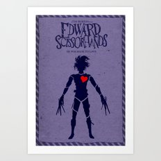 Edward Scissorhands (Alternative Movie Poster) Art Print