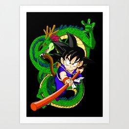 Little Goku Art Print