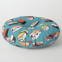 Sushi Frenchie Floor Pillow