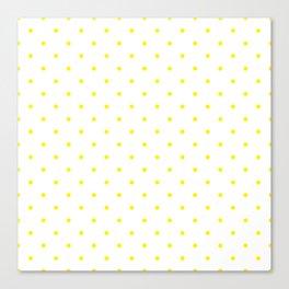 Small Yellow Polka Dots Canvas Print