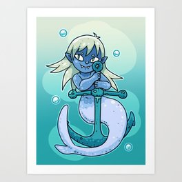 Sharp-toothed Mermaid Art Print