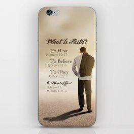 What Is Faith? iPhone Skin