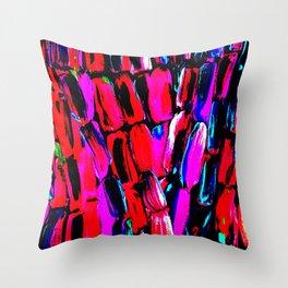 Dark Red Sugarcane Throw Pillow