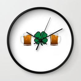 Let's Get White Girl Wasted T-shirt Funny Shamrock Tee Wall Clock